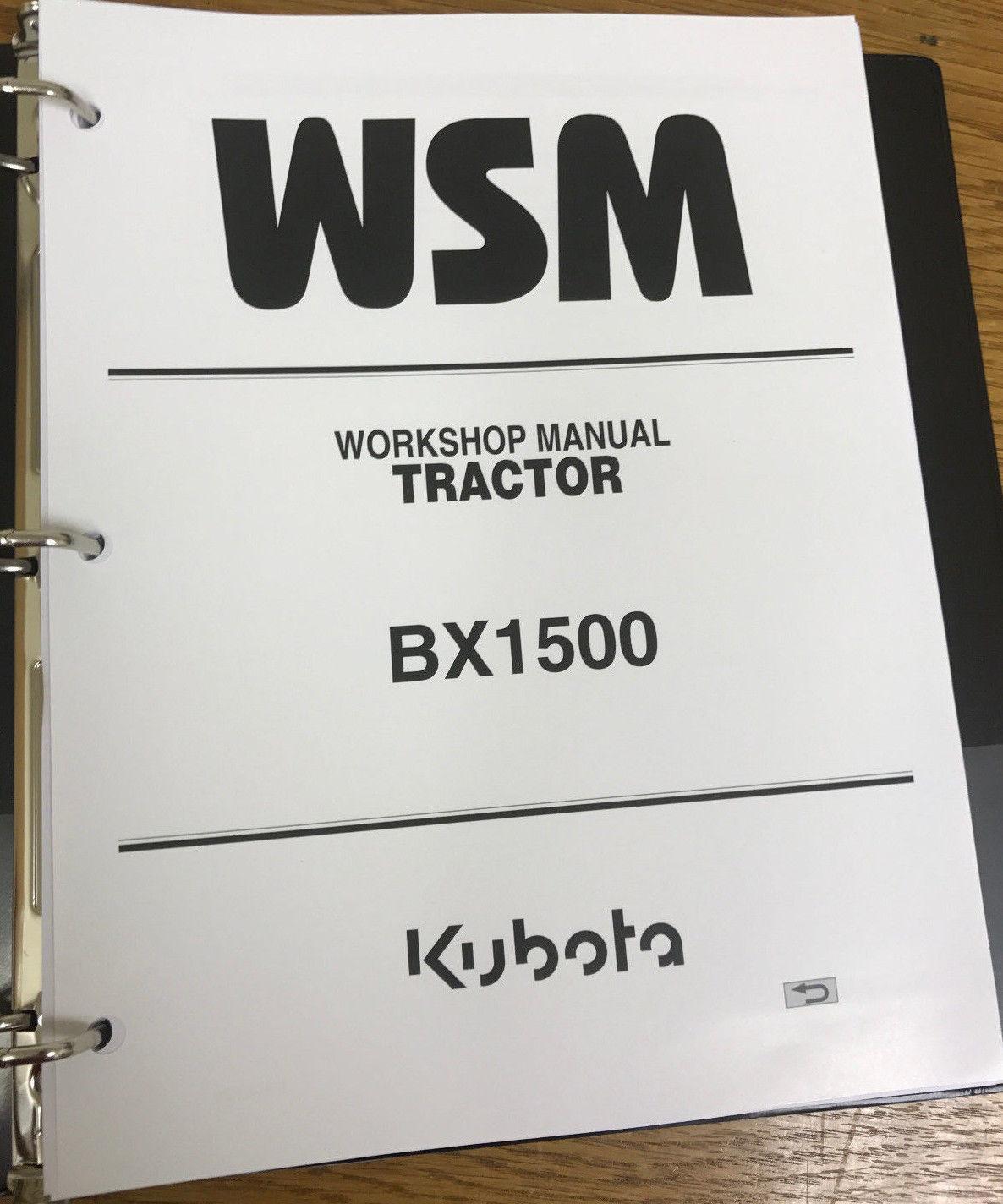 kubota bx1500 bx 1500 tractor service and 13 similar items rh bonanza com  Kubota BX2230 Manual BX1500 Kubota Specifications