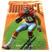 Tony Gonzalez 1997 Topps Finest Rookie Card #269 NFL HOF Kansas City Chiefs - $9.85