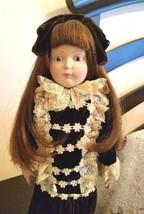 "FRANKLIN MINT Porcelain Doll Ladies Home Journal Heirloom Dolls ""Emily"" ... - $39.95"