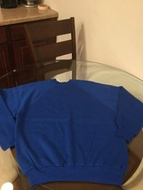 NWOT Men's Vintage Tultex Blue Blank Crew Neck Sweatshirt XL New Without... - $39.59