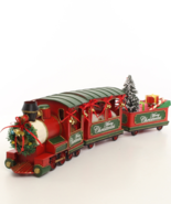 Locomotive with two wagons, Christmas style, Locomotive Decor *Free Air ... - $169.00