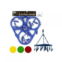 Hanging Clothes Dryer With 12 Clips OB445 - £30.20 GBP