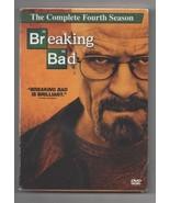 Breaking Bad Season 4 DVD Aaron Paul, Bryan Cranston Complete Fourth Season - $19.95