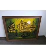 LARGE VAN GAARD STUDIOS DRIP ART PAINTING SIGNED VAN GAARD PIRATE SHIP N... - $9,899.01