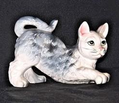 Kitten Figurine  AA18 - 1163 Vintage Grey and White image 2