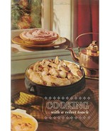 Cooking With a Velvet Touch 1965 Carnation Cookbook Vintage - $6.92