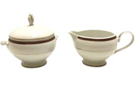Mikasa Fine China ENGLISH BROCADE Sugar Bowl w Lid and Creamer Set Disco... - $39.59