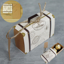 Mini Suitcase Sweet Cake Candy bags Wedding Party Favours Boxes Gift - $6.99