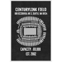 Centurylink Field Canvas Wall Art – Multiple Colors - $28.50