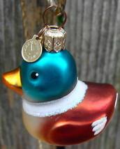 Dept 56 Duck Ornament Blown Glass - $12.99