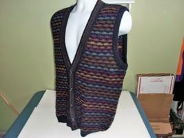 Vintage Sweater Vest XL Mohair Wool Mod 70s Made in Italy Geek Nerd Prep... - $49.99