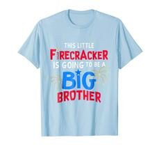 Brother Shirts - This Little Firecracker is going to be Big Brother 4th July Men image 2