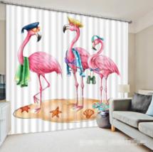 3D Flamingo 0232 Blockout Photo Curtain Print Curtains Drapes Fabric Window UK - $145.49+