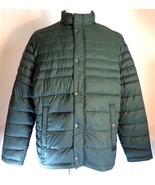 Kenneth Cole Reaction Jacket Mens Size XL Dark Green Puffer - $44.46