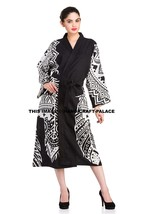 Indian Bath Robes Women's 100% Cotton Dream Catcher Dressing Gown Kimono... - $22.43