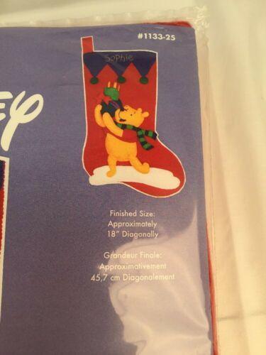 "Disney Winnie The Pooh ""Pooh's Presents"" Christmas Stocking Janlynn #1133-25 image 4"
