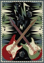 Dueling Guitars Area Rug 5ft. x 7ft. - $74.00