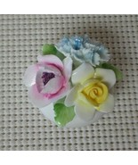 ROYAL DOULTON English Bone China 3 FLOWER BOUQUET IN A BOWL VASE Miniature - $24.73