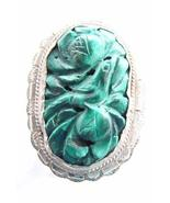 ANTIQUE CHINESE CARVED MALACHITE RING - $49.00