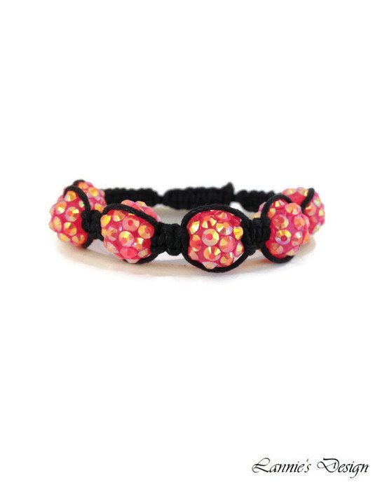 Pink Rhinestone Knot Bracelet for Kids