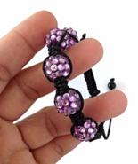 Lavender Purple Knot Rhinestone Bracelet for Kids - $24.90