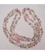 VINTAGE PASTEL PEARL NECKLACE - $150.00