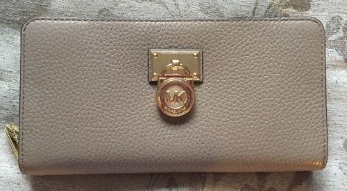 f9ba78b6568a50 12. 12. Previous. Michael Kors Hamilton Traveler Large Zip Around Leather  Wallet In Dark Taupe · Michael ...