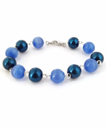 Blue Bead Links Bracelet for Ladies - $15.90