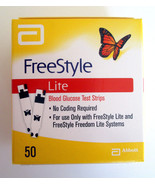 50 NEW Abbott Freestyle Lite Diabetic Blood Glucose Test Strips Expire 4... - $42.56