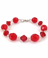 Red Bead Links Bracelet for Ladies - $14.90