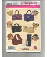 Simplicity 3528 Sunglass Cases  One Size - $8.00