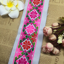miao cross stitch crochet fabric lace trim 5cm ... - $7.50