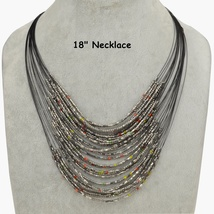 Multi Layer Seed Bead Necklace Free Shipping - $17.00