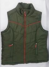 Paris Blues Green Winter Snow Vest Women's Size L #57686 - $20.59