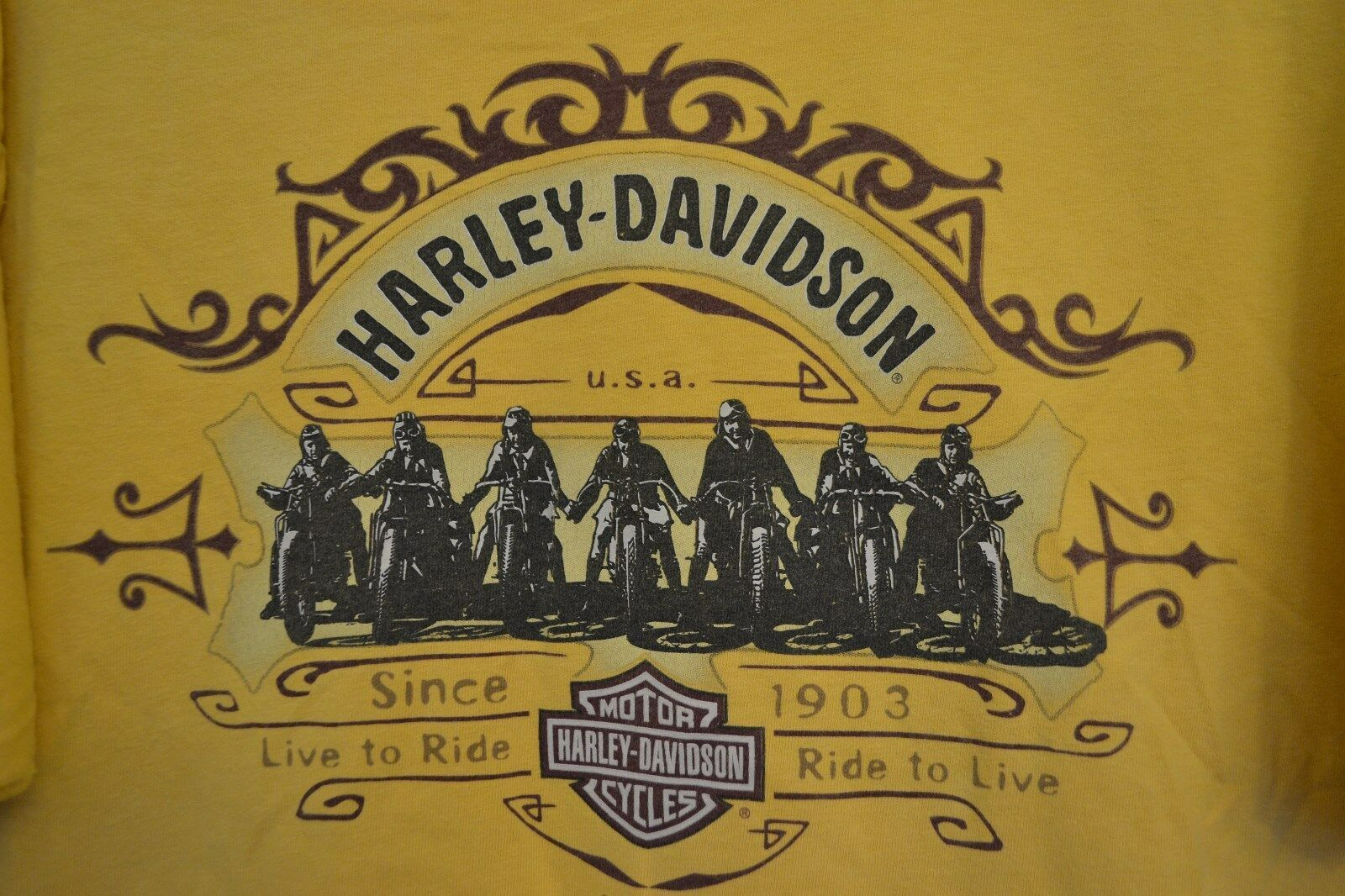 Primary image for Harley Davidson Motorcycles T-Shirt Palm Springs California 2004 Size XL