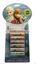 DISNEY* 7pc Balm/Gloss FROZEN Flavored/Scented GLITTER CAPS Party Pack (... - $10.98