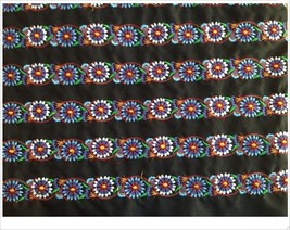 miao hand stitch crochet cotton fabric lace trim 5.5cm dress collar ribb... - $5.90