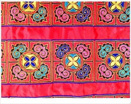 miao embroidery satin fabric lace trim 12cm dre... - $11.00