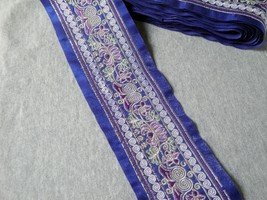 miao embroidery satin fabric lace trim 8cm dress collar ribbon tape webb... - $6.50