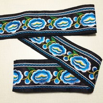 miao embroidery satin fabric lace trim 8cm dres... - $7.50