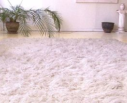 Traditional Flokati Wool Shag Rugs 3.0 Kilo 8ft Round - $689.00