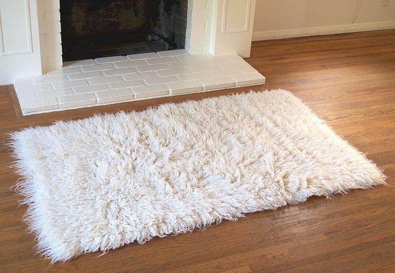 Traditional Flokati Wool Shag Rugs 2.0 Kilo 7ft x 10ft