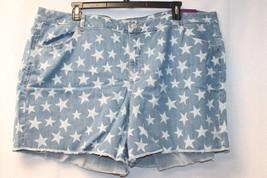 New Lane Bryant Womens Plus Size 28 W Star Stars Denim J EAN Weekend Shorts Short - $21.28
