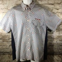 Vintage 90s Tommy Jeans Shirt Signature TH TJH Hilfiger Stars Spell out ... - $24.72