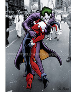 The Joker and Harley Quinn: The Kissing Joke - Art Print/Poster - $19.99+