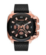 Diesel DZ7346 BAMF Black Dial Black Leather Men's Watch - £177.35 GBP