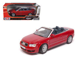 Audi A4 Red Convertible 1/18 Diecast Model Car by Motormax - $55.42