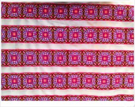 miao hmong embroidery crochet cotton fabric lac... - $5.50