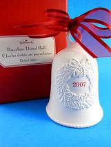 "Hallmark 2007 Porcelain Bell w wreath design unused Mint in Original Box  3.5"" - $7.61"