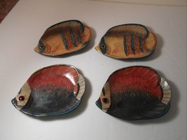 Fish shaped Hard plastic realistic fish plates ... - $15.79